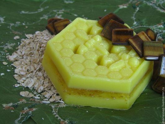 Мыло ручной работы. Ярмарка Мастеров - ручная работа. Купить Мыло медовое. Handmade. Желтый, медовое мыло, жасмин