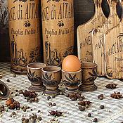 """Для дома и интерьера ручной работы. Ярмарка Мастеров - ручная работа Набор подставок  пашотниц для яиц  """"Оливковый рай"""". Handmade."""