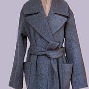 """Одежда ручной работы. Ярмарка Мастеров - ручная работа Пальто- халат с поясом """"Городская мода"""". Handmade."""