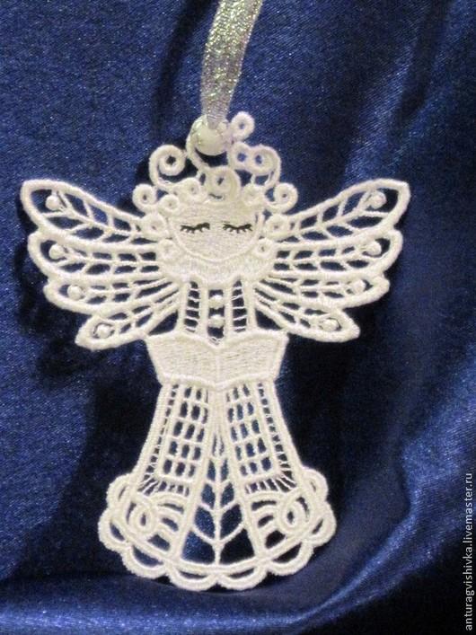 Рождественский Ангел кружевной - прекрасный НОВОГОДНИЙ подарок, ПОДАРОК НА РОЖДЕСТВО.