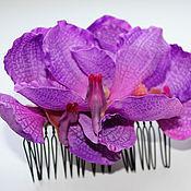 Украшения ручной работы. Ярмарка Мастеров - ручная работа гребень Аметистовая орхидея. Handmade.