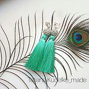 Украшения ручной работы. Ярмарка Мастеров - ручная работа Серьги-кисти. Handmade.