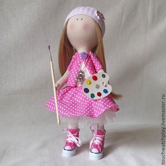Человечки ручной работы. Ярмарка Мастеров - ручная работа. Купить Интерьерная кукла. Handmade. Бледно-розовый, тильда, тильда кукла