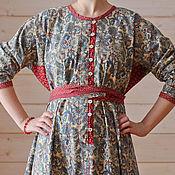 Одежда ручной работы. Ярмарка Мастеров - ручная работа платье рубашка в традиционном стиле. Handmade.