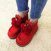 Обувь ручной работы handmade. Livemaster - original item boots: Boots women`s red