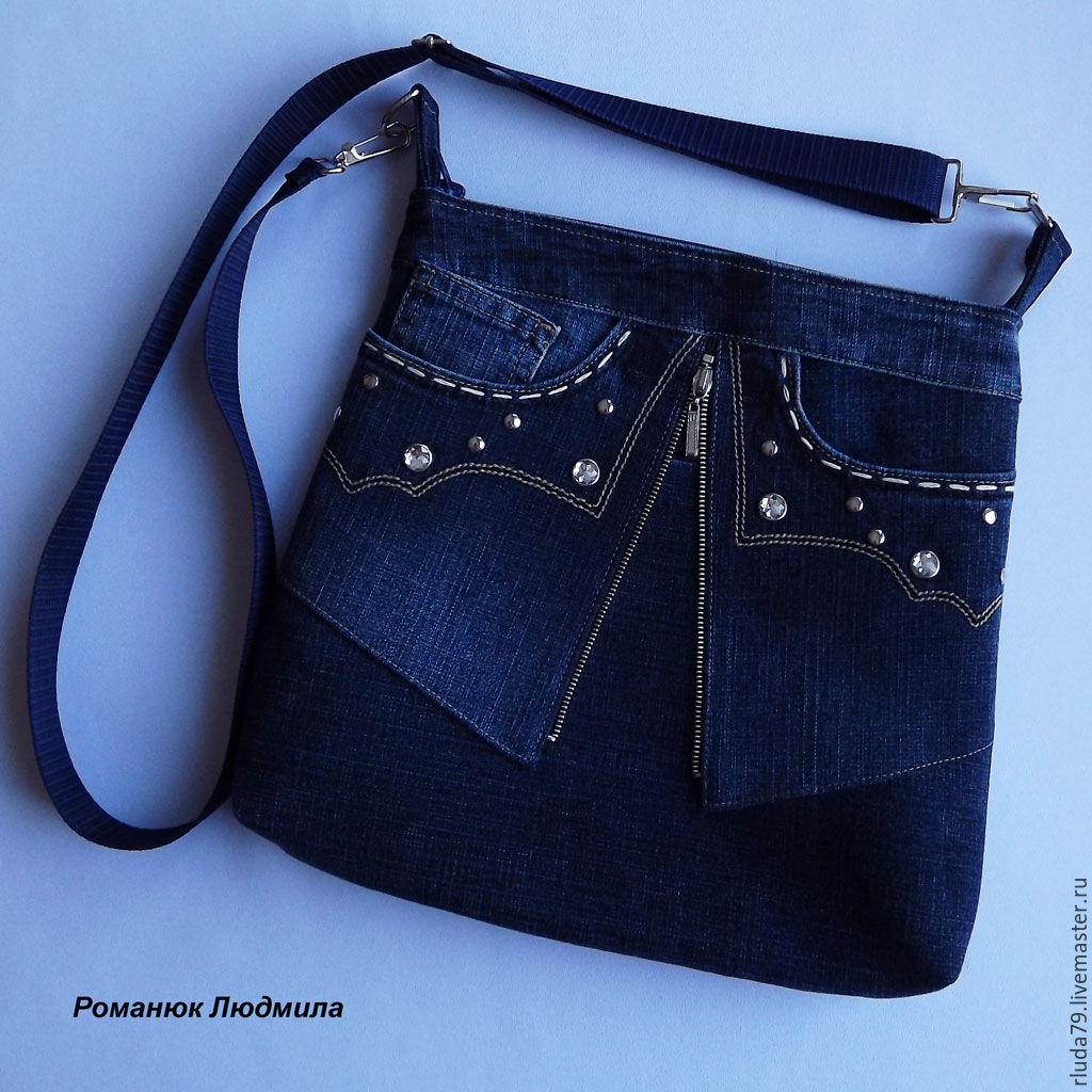 Пошить сумку своими руками из джинсов фото