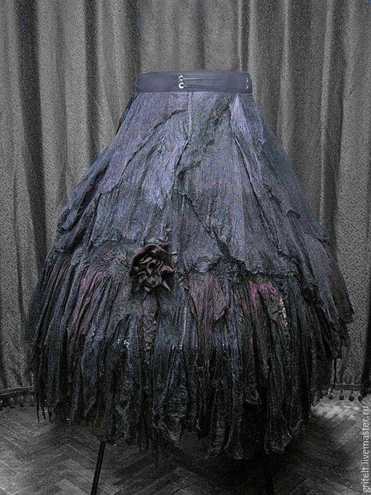 """Юбки ручной работы. Ярмарка Мастеров - ручная работа. Купить Юбка стиль  бохо на запахе """"Персидская ночь"""".. Handmade. юбка"""