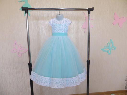 """Одежда для девочек, ручной работы. Ярмарка Мастеров - ручная работа. Купить Нарядное платье для девочки """"Тиффани"""". Handmade. Цветное платье"""