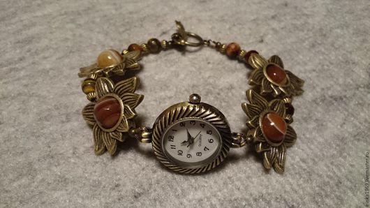 """Часы ручной работы. Ярмарка Мастеров - ручная работа. Купить Часы-браслет """"Солнечные"""". Handmade. Комбинированный, часы-браслет"""
