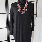 Одежда ручной работы. Ярмарка Мастеров - ручная работа Платье длинное черное из трикотажа. Handmade.