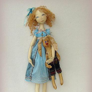 Куклы и игрушки ручной работы. Ярмарка Мастеров - ручная работа АЛИСА. Куда уходит детство.... Настенная кукла.. Handmade.