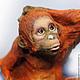 обезьяна, папье маше, папьемаше, символ 2016 года обезьяна, фигурка обезьяна, орангутан, елочная игрушка, елочные игрушки из папье-маше, фигурка из папье маше