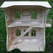 Куклы и игрушки ручной работы. Ярмарка Мастеров - ручная работа Деревянный кукольный дом с мебелью. Handmade.