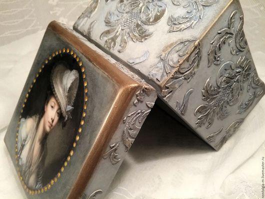 Шкатулки ручной работы. Ярмарка Мастеров - ручная работа. Купить -10%  Старинная шкатулка Любовное письмо. Handmade. Голубой