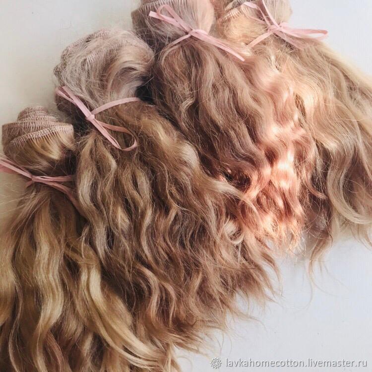 Волосы натуральные на трессе 1 метр, 4 цвета, Материалы, Москва, Фото №1