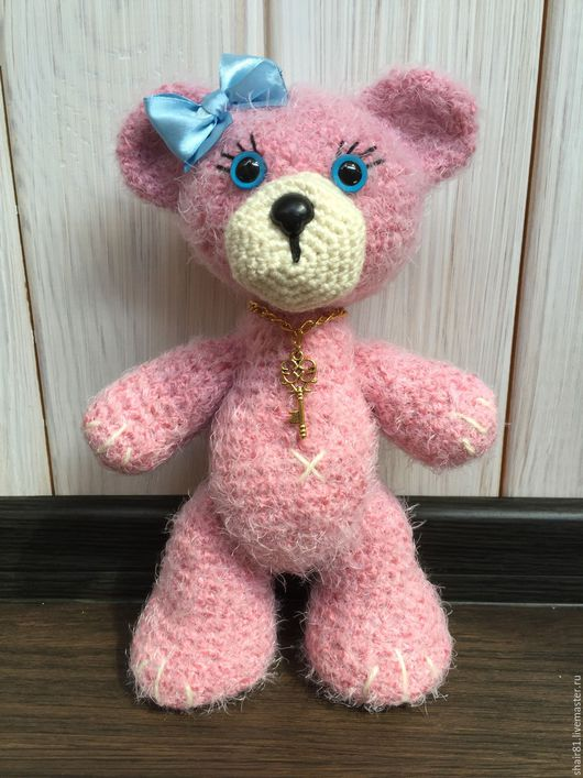 Вязаный медвежонок Розочка