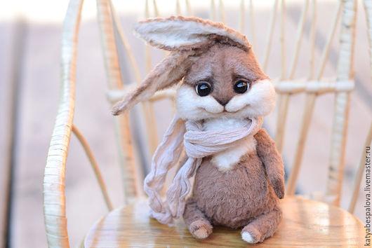 Мишки Тедди ручной работы. Ярмарка Мастеров - ручная работа. Купить Кролик Бамс. Handmade. Комбинированный, игрушка, катя беспалова