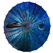 Аксессуары handmade. Livemaster - original item The umbrella-cane rainbow pattern inside manual work Space. Handmade.