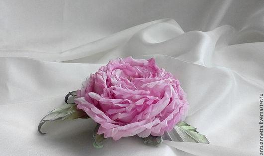 Цветы ручной работы. Ярмарка Мастеров - ручная работа. Купить Роза изшелка. Handmade. Брусничный, украшения ручной работы