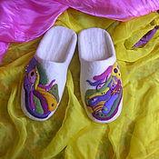 """Обувь ручной работы. Ярмарка Мастеров - ручная работа Тапочки валяные """" Конфетти"""". Handmade."""