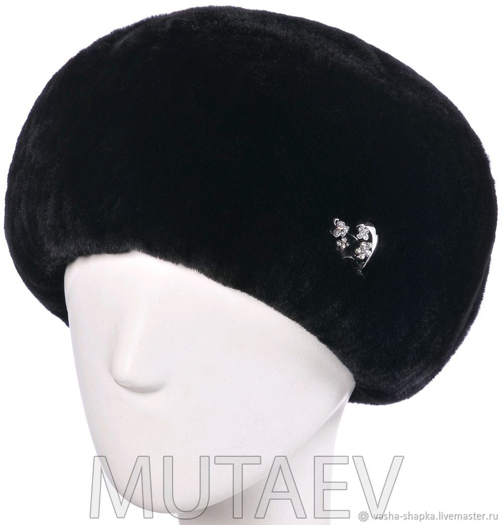 Women's hat made of Mouton, Caps, Moscow,  Фото №1
