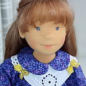 Куклы и игрушки ручной работы. Ярмарка Мастеров - ручная работа вальдорфская кукла, кукла по фото, Кристина, 42см. Handmade.