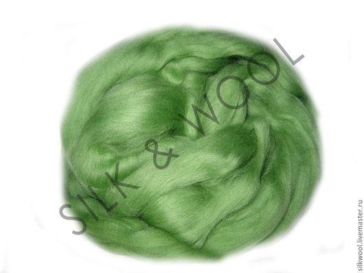 """Валяние ручной работы. Ярмарка Мастеров - ручная работа. Купить 100 г Цвет """"Зелёное яблоко"""". Троицкая тонкая шерсть мериноса.. Handmade."""