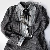 Одежда ручной работы. Ярмарка Мастеров - ручная работа Платье с брошкой и поясом. Handmade.
