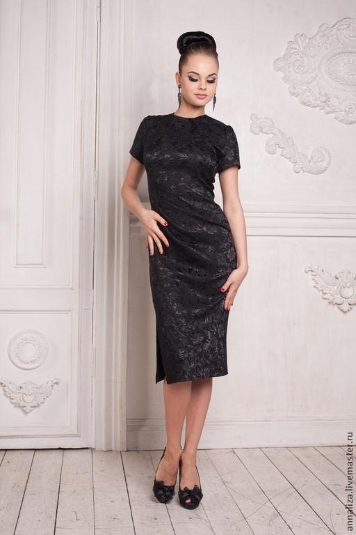 """Платья ручной работы. Ярмарка Мастеров - ручная работа. Купить Ретро платье в стиле 50-х """"Одри"""". Handmade. Черный"""