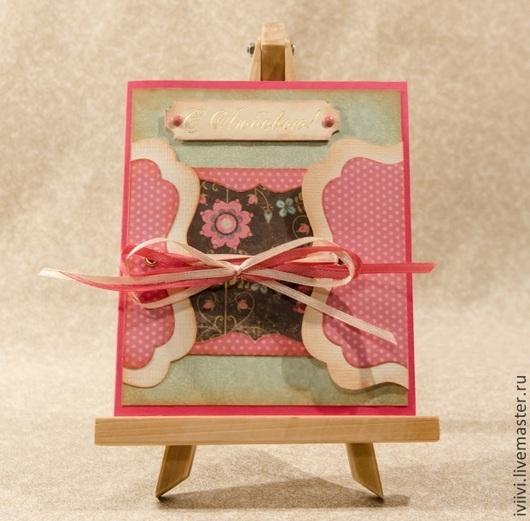 """Открытки на все случаи жизни ручной работы. Ярмарка Мастеров - ручная работа. Купить Открытка """"С любовью"""". Handmade. открытка для женщины"""
