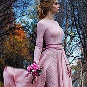 """Одежда ручной работы. Ярмарка Мастеров - ручная работа Платье """"Лиля. Цвет - розовая пудра"""" !Пояс в подарок!. Handmade."""