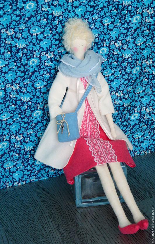 Куклы Тильды ручной работы. Ярмарка Мастеров - ручная работа. Купить Тильда с комплектом одежды.. Handmade. Голубой, кукла текстильная