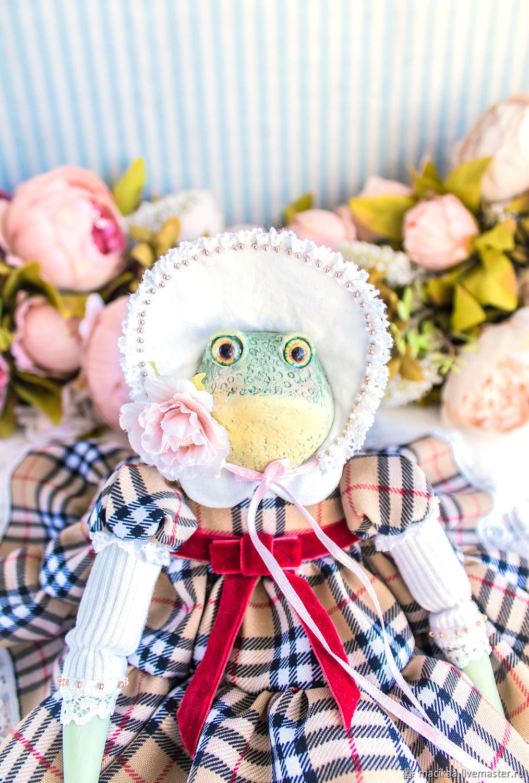 Алиссия лягушка жаба авторская интерьерная кукла, символ богатства, Куклы и пупсы, Нижний Новгород,  Фото №1