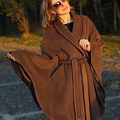 Одежда ручной работы. Ярмарка Мастеров - ручная работа Пальто пончо из шерсти с кашемиром. Handmade.