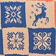 """Текстиль, ковры ручной работы. Ярмарка Мастеров - ручная работа. Купить Плед """"Скандинавские узоры"""". Handmade. Плед, ручная работа"""