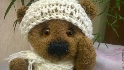 Мишки Тедди ручной работы. Ярмарка Мастеров - ручная работа. Купить медвежонок Антошка. Handmade. Коричневый, подарок для бабушки, шарфик