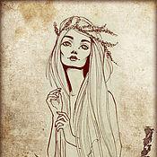 """Картины и панно ручной работы. Ярмарка Мастеров - ручная работа """"Гиана"""" авторская картина, печать на холсте.. Handmade."""