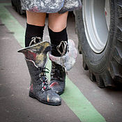 """Обувь ручной работы. Ярмарка Мастеров - ручная работа Ботинки войлочные """"Муж и жена"""". Handmade."""