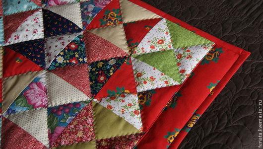 Текстиль, ковры ручной работы. Ярмарка Мастеров - ручная работа. Купить Пледик для сундука. Handmade. Лоскутный, лоскутное покрывало, для дачи