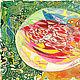 """Абстракция ручной работы. """"Яйцо"""". Любовь Шатилова. Интернет-магазин Ярмарка Мастеров. Картина в подарок, репродукция, бумага, тушь, акварель"""