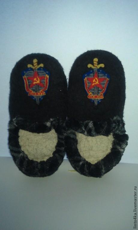 """Обувь ручной работы. Ярмарка Мастеров - ручная работа. Купить Обувь для мужчины """"Тапки""""День  Победы"""". Handmade. Черный, подарок мужчине"""