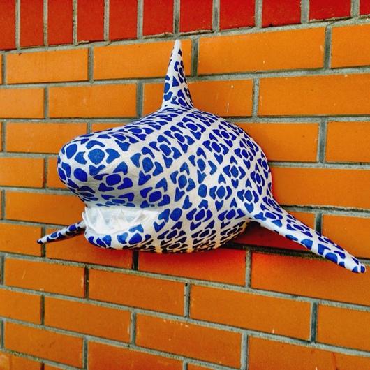 """Интерьерные  маски ручной работы. Ярмарка Мастеров - ручная работа. Купить Акула """"Shark"""". Handmade. Акула, paperart, голова, акрил"""