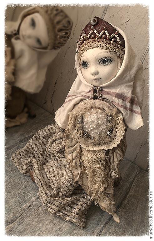 """Мишки Тедди ручной работы. Ярмарка Мастеров - ручная работа. Купить """"О чем плачет Сирин?.."""" птичка-куколка тедди-долл. Handmade."""
