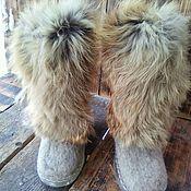 Felt boots handmade. Livemaster - original item Fur boots. Handmade.