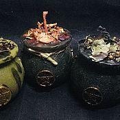 Ритуальная свеча ручной работы. Ярмарка Мастеров - ручная работа Свеча «Ведьмин котёл». Handmade.