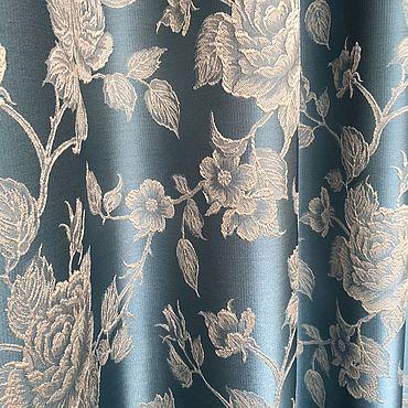 Текстиль ручной работы. Ярмарка Мастеров - ручная работа Шторы Бирюзовый Эдем. Handmade.