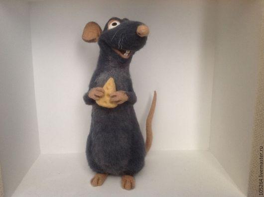 Игрушки животные, ручной работы. Ярмарка Мастеров - ручная работа. Купить Крыс Реми. Handmade. Крыса, интерьерная игрушка