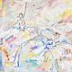 """Абстракция ручной работы. Заказать """"Золушка"""" диптих картина маслом. ЖИВОПИСЬ ПОЗИТИВ (paintingjoy). Ярмарка Мастеров. Картина для интерьера, балет"""