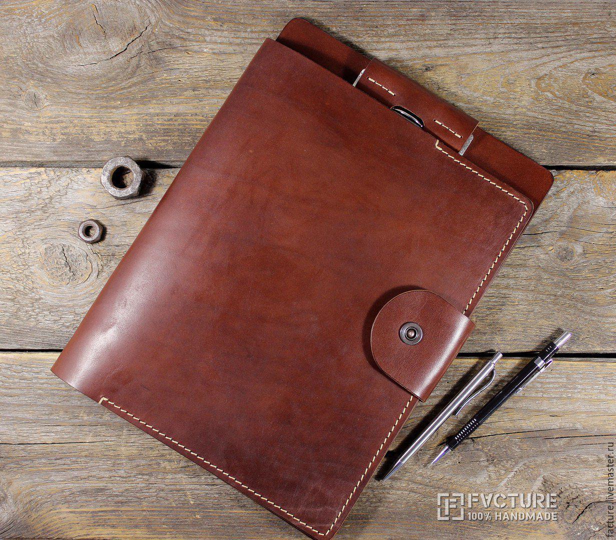 Business folder. Genuine leather.Handmade. art. FL 007, Folder, Tolyatti,  Фото №1