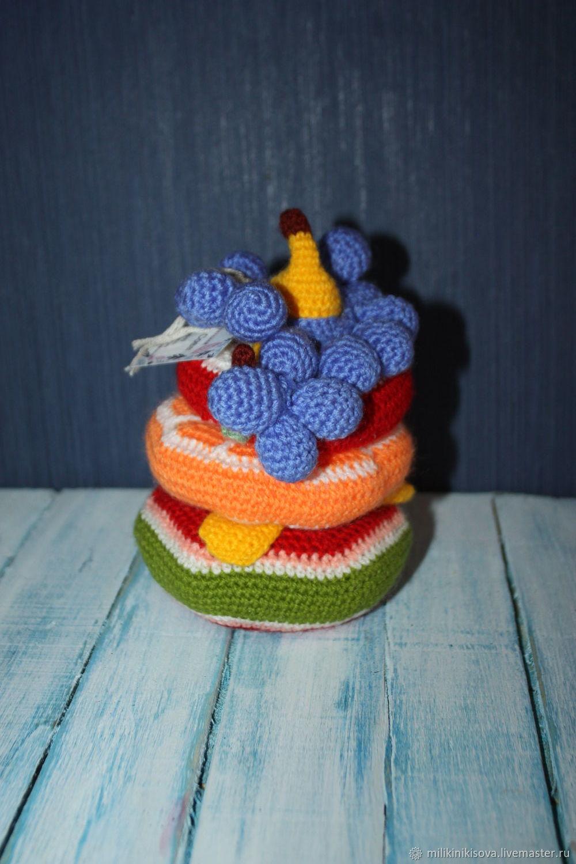 Вязанная пирамидка, фруктовый салат, Кукольная еда, Тверь,  Фото №1